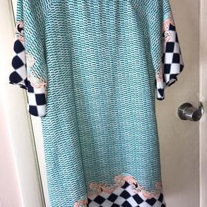 Printed quarter sleeve dress